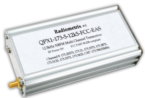 QPX1 2 Watt VHF Transceiver from Radiometrix